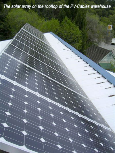 PV-Cables Rooftop Solar Array